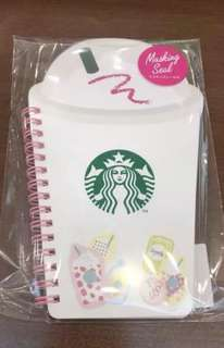 Starbucks Frappuccino ring notebook and masking seal - japan