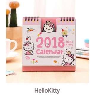 Hello Kitty/Stitch Calender 2018