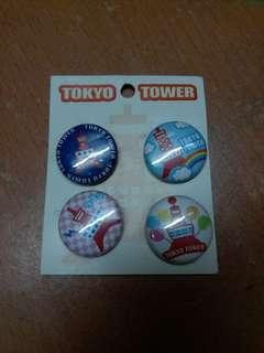 東京鐵塔造型扣針一套4個
