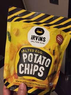 🚚 「預購」Irvins新加坡鹹蛋魚片/薯片(小包)