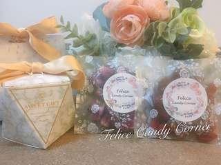 #回禮禮物 #婚宴 #百日宴 #candycorner #玫瑰花茶 #紅棗桂圓杞子茶 #蝴蝶餅 #wedding #100days