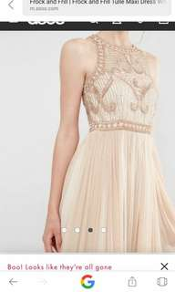 ASOS embellished frock and frill tulle maxi dress