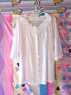 Lace detailed shirt