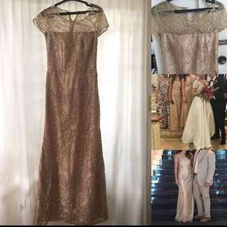 Gold Sparkly Evening Gown