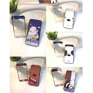✅2n1 Case w/ Tempered Glass ✅We Bare Bears