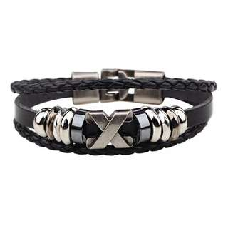 chain X - letter retro Foreign trade genuchain X - letter retro bracelet stainless steel accessories hand