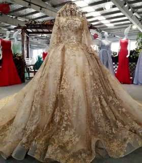 (Customize in size)High-end lace flower Wedding Dress