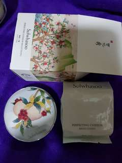 limited edition Sulwhasoo Perfecting Cushion no.13 light pink