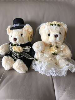 Wedding Bears for Cars or Deco