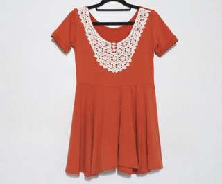 ✨Repriced✨ Rustic Orange Embroidered Flowy Top