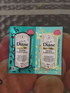 Moist Diane Extra Fresh & Hydrate Shampoo & Treatment Samples