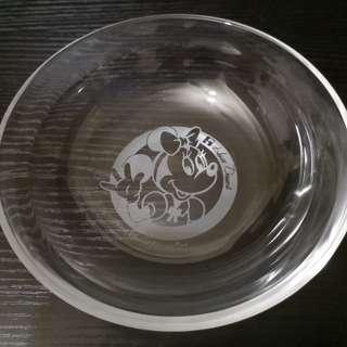 Disney minie glass bowl