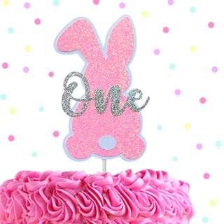 Some Bunny is One Cake Topper, Custom Birthday Cake Topper
