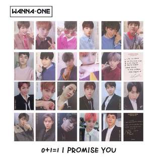 Wanna One 0+1=1 I Promise You Photocards