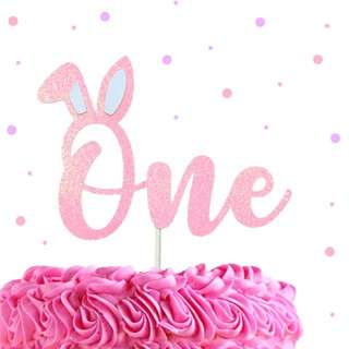 Some Bunny is One Cake Topper, Custom Birthday Cake Topper