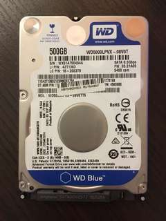 "SATA 2.5"" HDD 500GB"