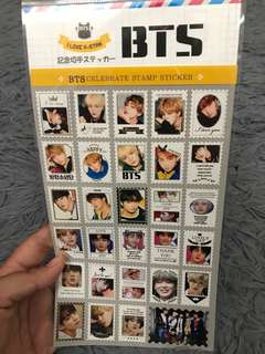 READYSTOCK BTS CELEBRATE STAMP STICKER