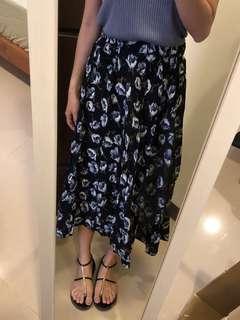 棉質印花半身洋裝裙