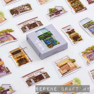 Set of 45pcs Creative Mini Houses Sticker Pack