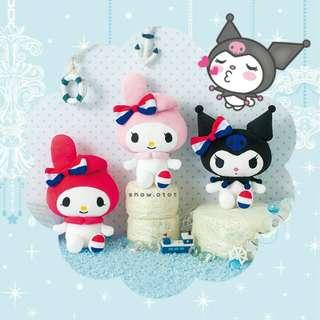 日版Kuromi × Melody公仔♡M! 日本限定 Sanrio/可羅米/美樂蒂/plush/soft toy/kids doll
