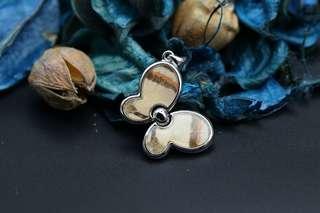 Navia Jewelry Real Butterfly Wing Delias anjae Silver Pendant Korea