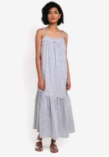 BNWT Abercrombie and Fitch tie-shoulder striped maxi dress