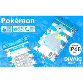 [PO] Pokemon DIVAID Water Proof Smartphone Case Pikachu & Lapras