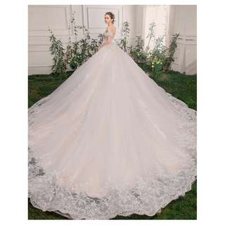pre order white off shoulder fishtail prom wedding bridal dress gown  RB0637