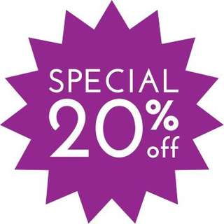 20% OFF ALL items