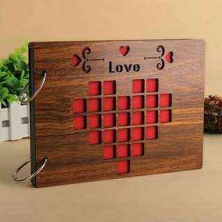 8inch Wooden Sculpture Print DIY Photo Album / Scrapbooking