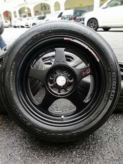 Regamaster 15 inch sports rim alza tyre 70%. *mora mora kasi you*