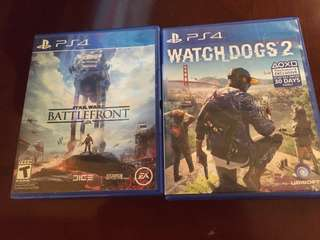 PS4 Watch Dogs 2 & Star Wars: Battlefront