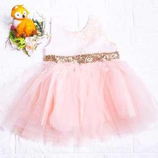 🚚 Instock - Pink Sequin Party Dress, baby infant toddler girl children