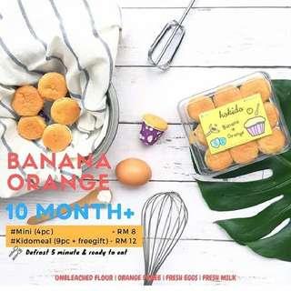 Hokido Baby Cakes - Banana Orange