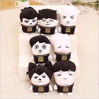 BTS hip hop monster dolls