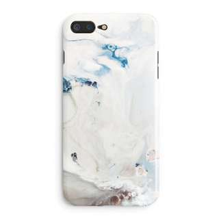 Blue Paint Marbling iPhone Case for 6 / 7 / 8 + / X