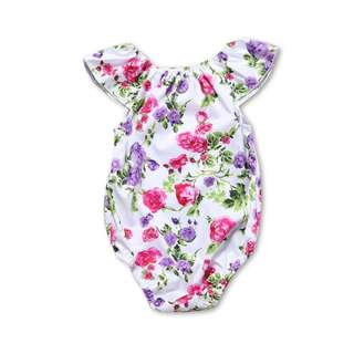 🌟INSTOCK🌟 Floral Purple Pink Everyday Onesie Kids Newborn Toddler Baby Romper for girls