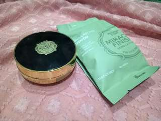 The face shop miracle finish cc long lasting cushion