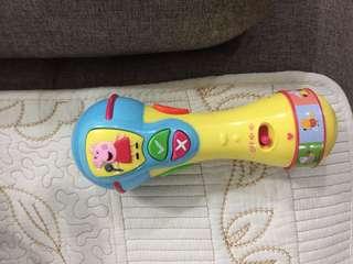 Peppa pig singing microphone +playmat