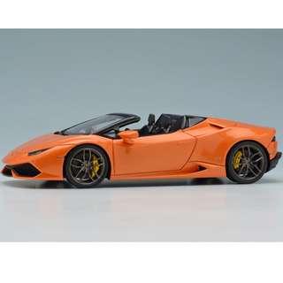 全新Make Up 1:43 Lamborghini Huracn LP610-4 Spyder 2015 Pearl Orange EM342B3