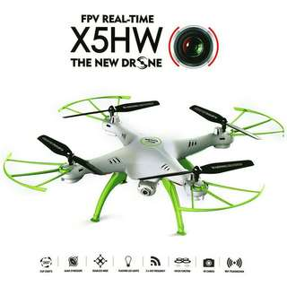 Drone quadcopter syma x5hw wifi fpv camera