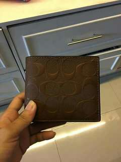 Coach Compact ID Signature Wallet