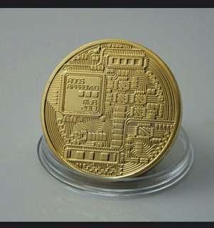 Koin Bitcoin (Gold Plate)