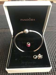 Pandora Bracelet with 2 Charms Included
