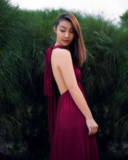 Convertible/ Infinity Bridesmaid Dress (maxi) - Burgundy