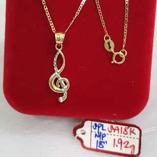 Necklace w/ Pendant 18k saudi gold