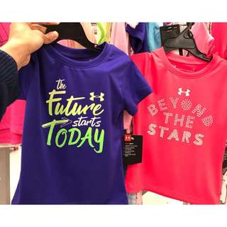 UNDER ARMOUR GIRLS T-SHIRTS