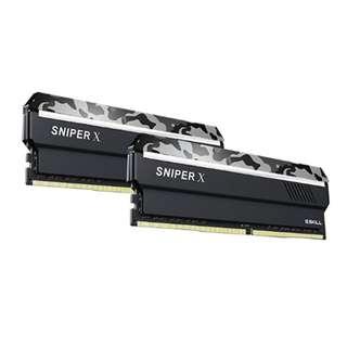 G.Skill F4-3200C16D-16GSX Sniper X Series 16GB (2 x 8GB) 288-Pin PC4-25600 / DDR4 3200 MHz Desktop Memory Gray g skill g-skill 16gb l