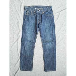 29腰 Levis 505 輕磅丹寧款 深藍原色 休閒直筒 牛仔褲 二手 長褲 潮流
