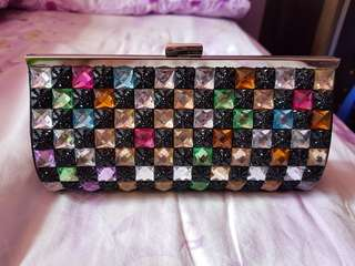 Ladies Clutch Bag with colourful stones